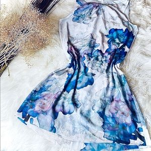 Moody Floral Print H&M Satin confy dress
